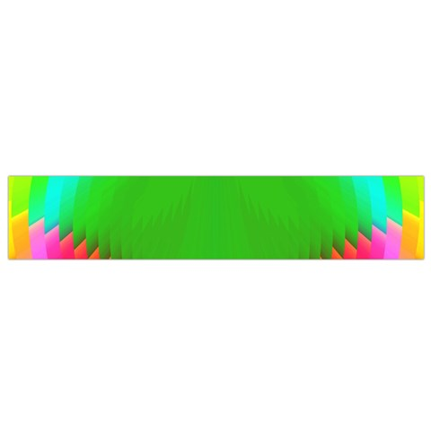 Colorful Abstract Butterfly With Flower  Flano Scarf (Small)
