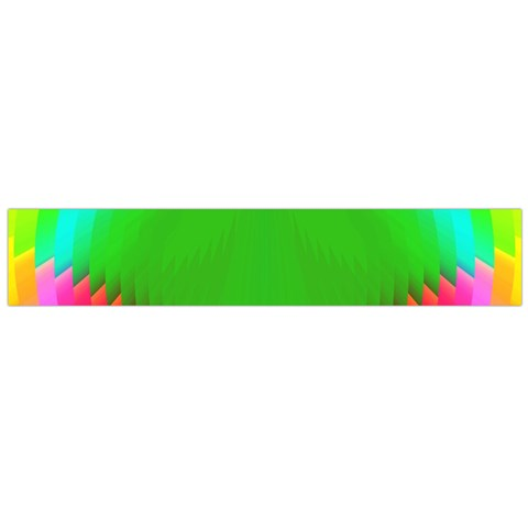 Colorful Abstract Butterfly With Flower  Flano Scarf (Large)