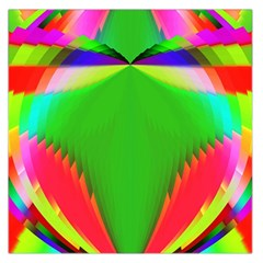 Colorful Abstract Butterfly With Flower  Large Satin Scarf (Square)