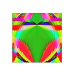 Colorful Abstract Butterfly With Flower  Satin Bandana Scarf Front