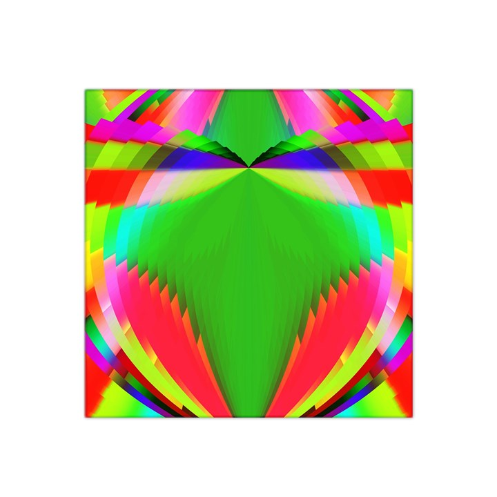 Colorful Abstract Butterfly With Flower  Satin Bandana Scarf