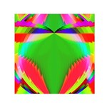 Colorful Abstract Butterfly With Flower  Small Satin Scarf (Square) Front