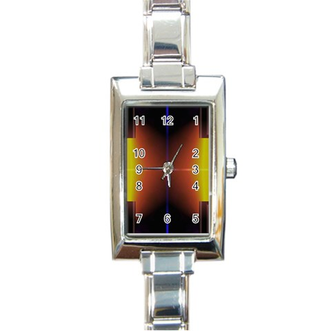 Abstract Painting Rectangle Italian Charm Watch