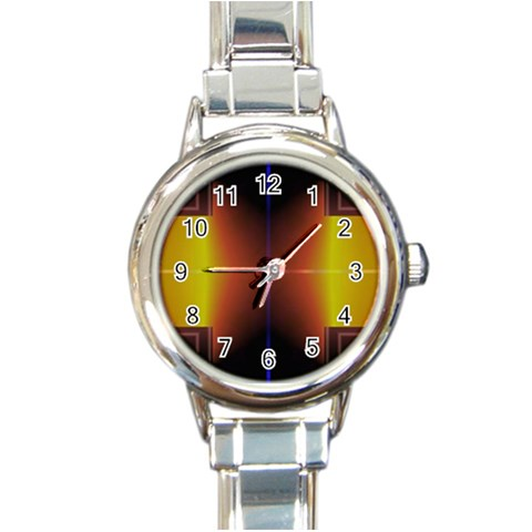 Abstract Painting Round Italian Charm Watch