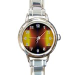 Abstract Painting Round Italian Charm Watch Front