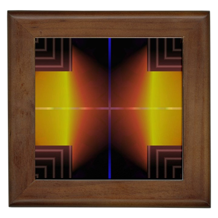 Abstract Painting Framed Tiles