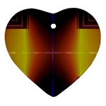 Abstract Painting Ornament (Heart)  Front