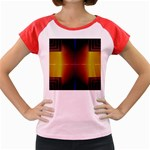 Abstract Painting Women s Cap Sleeve T-Shirt Front