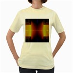 Abstract Painting Women s Yellow T-Shirt Front