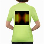 Abstract Painting Women s Green T-Shirt Back