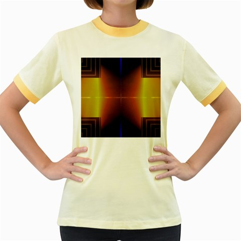 Abstract Painting Women s Fitted Ringer T-Shirts