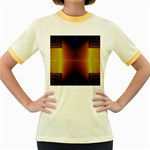 Abstract Painting Women s Fitted Ringer T-Shirts Front