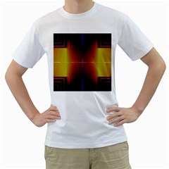 Abstract Painting Men s T-Shirt (White) (Two Sided)