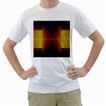 Abstract Painting Men s T-Shirt (White) (Two Sided) Front