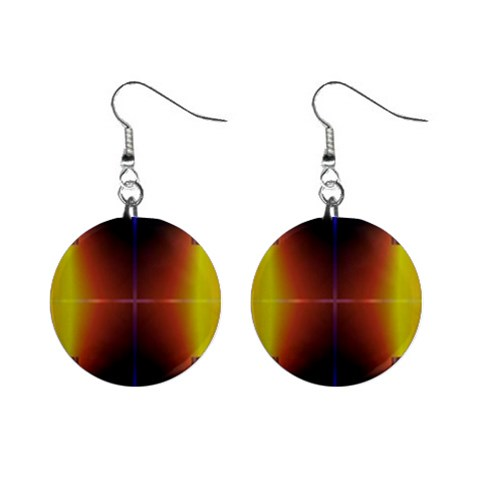 Abstract Painting Mini Button Earrings