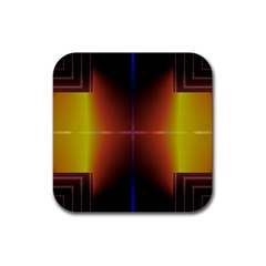 Abstract Painting Rubber Coaster (Square)