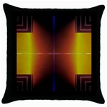 Abstract Painting Throw Pillow Case (Black) Front