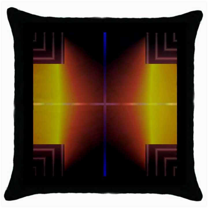 Abstract Painting Throw Pillow Case (Black)