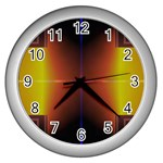 Abstract Painting Wall Clocks (Silver)  Front
