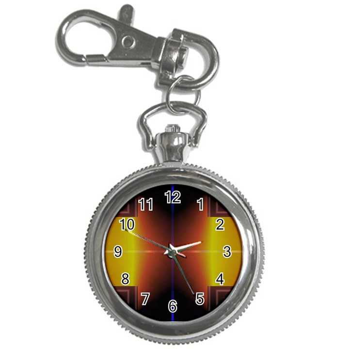 Abstract Painting Key Chain Watches