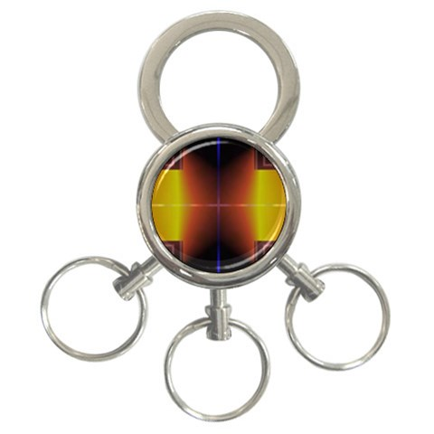 Abstract Painting 3-Ring Key Chains