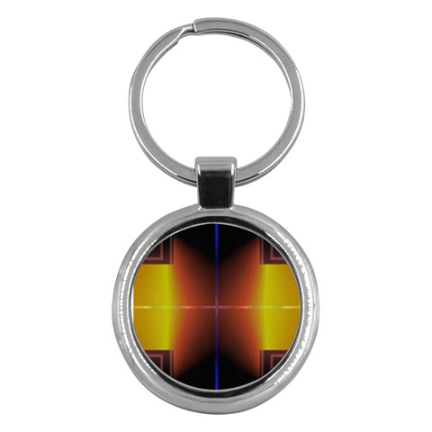 Abstract Painting Key Chains (Round)