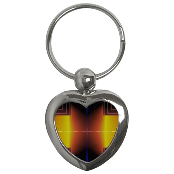Abstract Painting Key Chains (Heart)