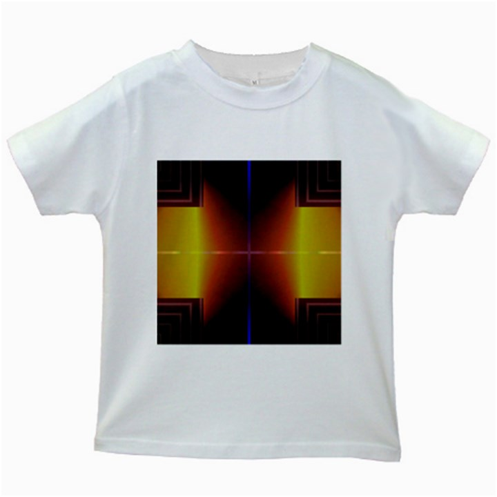 Abstract Painting Kids White T-Shirts
