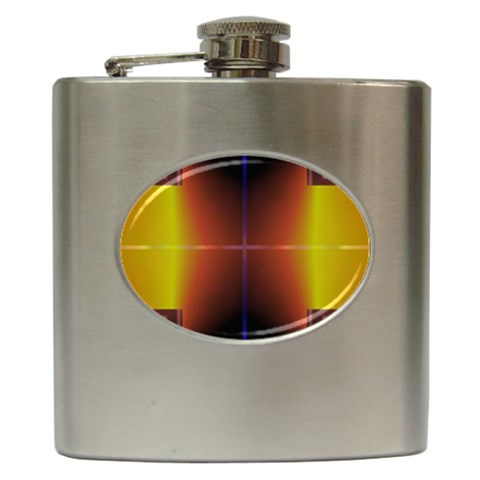 Abstract Painting Hip Flask (6 oz)