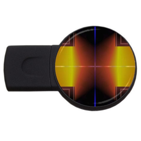 Abstract Painting USB Flash Drive Round (2 GB)