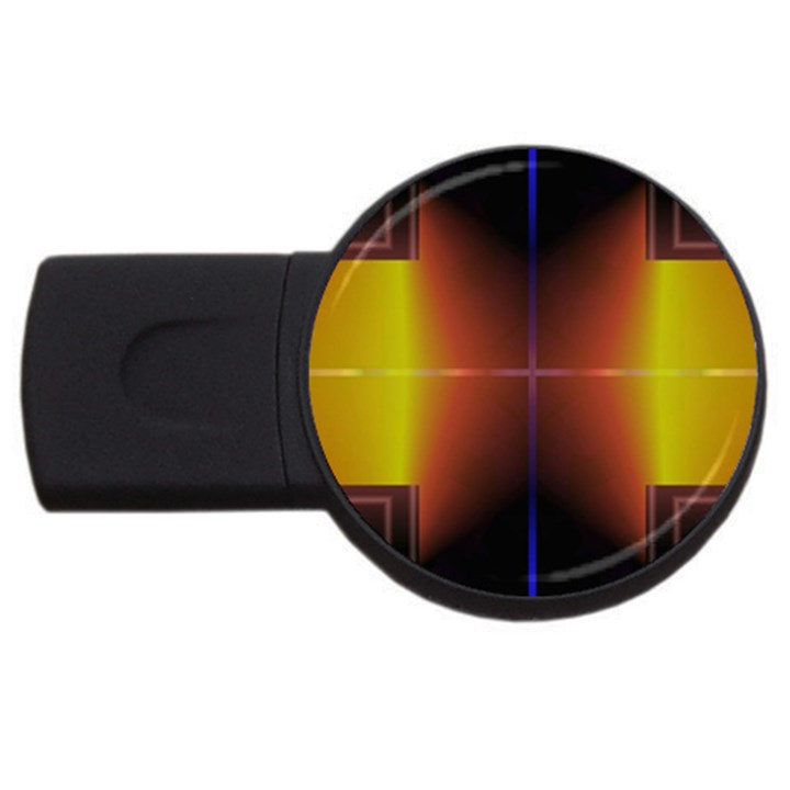 Abstract Painting USB Flash Drive Round (1 GB)