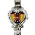 Abstract Painting Heart Italian Charm Watch Front