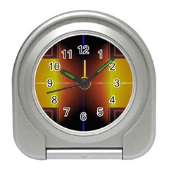 Abstract Painting Travel Alarm Clocks