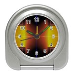 Abstract Painting Travel Alarm Clocks Front