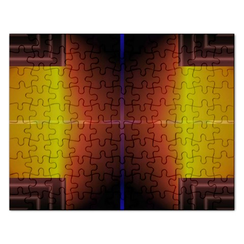 Abstract Painting Rectangular Jigsaw Puzzl