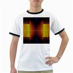 Abstract Painting Ringer T-Shirts Front
