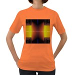Abstract Painting Women s Dark T-Shirt Front