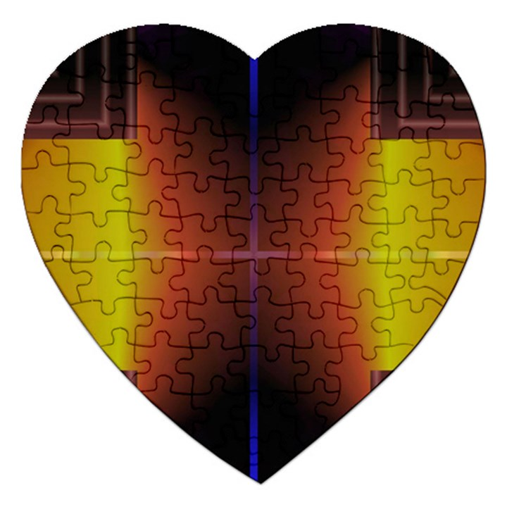 Abstract Painting Jigsaw Puzzle (Heart)