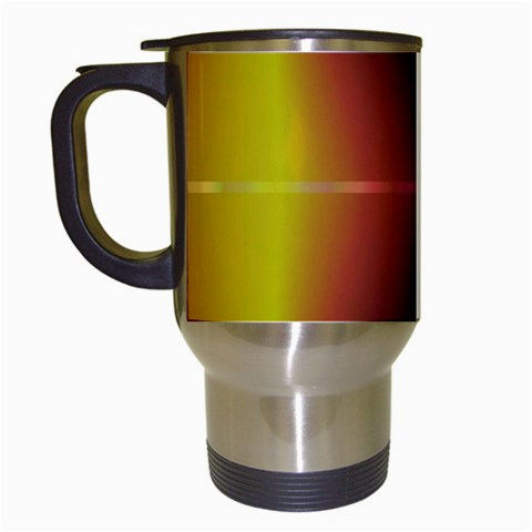 Abstract Painting Travel Mugs (White)