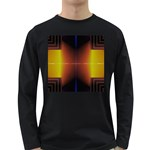 Abstract Painting Long Sleeve Dark T-Shirts Front