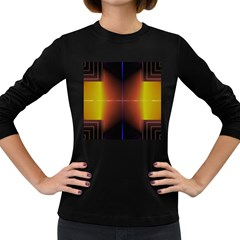 Abstract Painting Women s Long Sleeve Dark T-Shirts