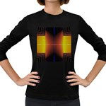 Abstract Painting Women s Long Sleeve Dark T-Shirts Front