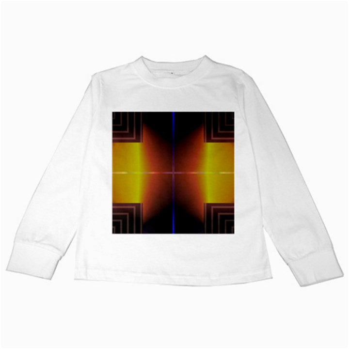 Abstract Painting Kids Long Sleeve T-Shirts