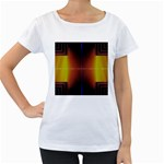Abstract Painting Women s Loose-Fit T-Shirt (White) Front