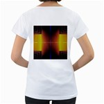 Abstract Painting Women s Loose-Fit T-Shirt (White) Back