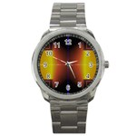 Abstract Painting Sport Metal Watch Front