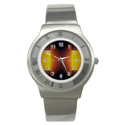 Abstract Painting Stainless Steel Watch