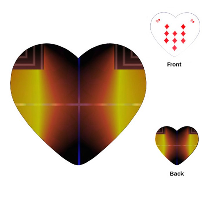 Abstract Painting Playing Cards (Heart)