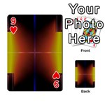 Abstract Painting Playing Cards 54 Designs  Front - Heart9