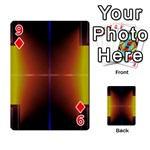 Abstract Painting Playing Cards 54 Designs  Front - Diamond9